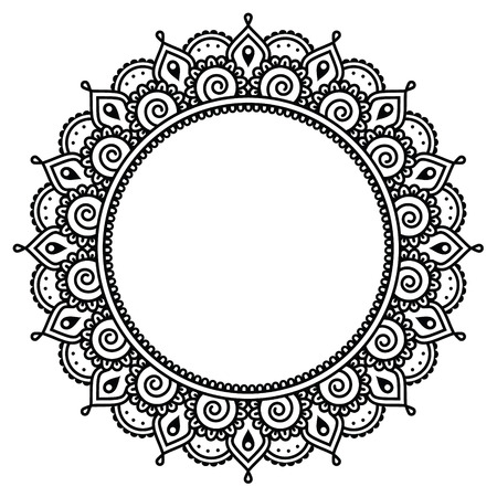 henna pattern: Mehndi, Indian Henna tattoo round pattern