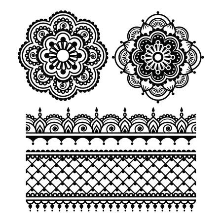 tatouage fleur: Mehndi, tatouage au henné indien seamless