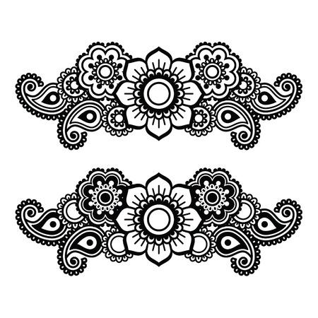 tatouage fleur: Mehndi, henn� indien motif de tatouage ou de fond