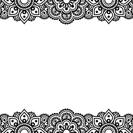 mehndi: Mehndi, Indian Henna tattoo design - greetings card, lace ornament