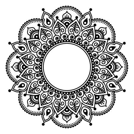 bordados: Encajes Mehndi, india tatuaje de henna diseño redondo o patrón