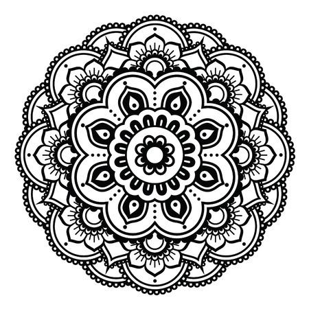 Indian Henna tattoo pattern or background - Mehndi design Illustration