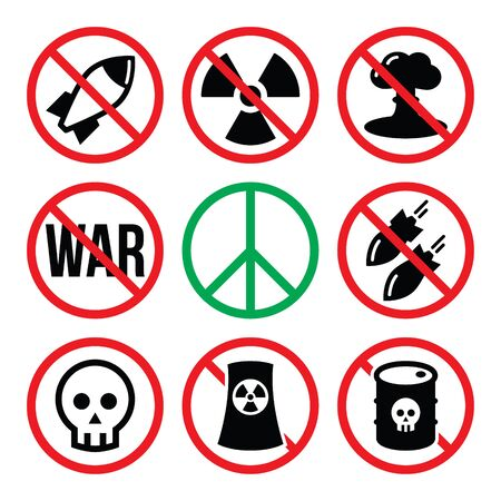 chernobyl: No nuclear weapon, no war, no bombs warning signs