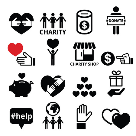 donating: Charity, helping other people icons