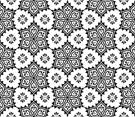Indian seamless pattern, repetitive Mehndi design