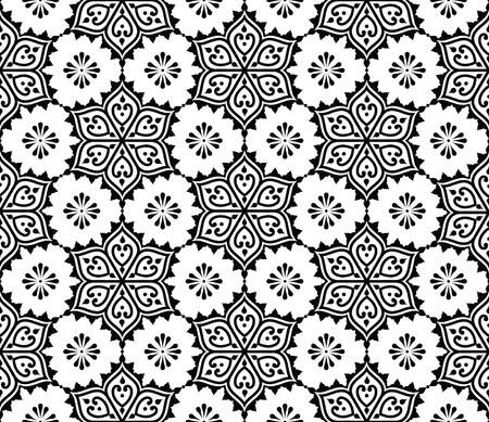 Indian seamless pattern, repetitive Mehndi design