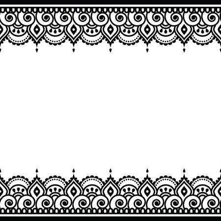 indische muster: Mehndi, Indian Henna Tattoo-Design - Grußkarte, Spitze Verzierung