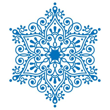 traditional pattern: Christmas snowflake design, winter embroidery