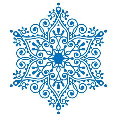 bordados: diseño del copo de nieve, bordado de invierno