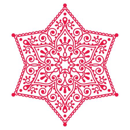 schneeflocke: Christmas red Schneeflocke Spitzen-Design