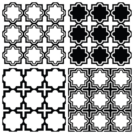 mosaic floor: Arabic seamless pattern set - Islamic repetitive design Illustration