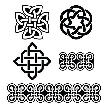 st: Celtic Irish patterns and knots - vector, St Patricks Day