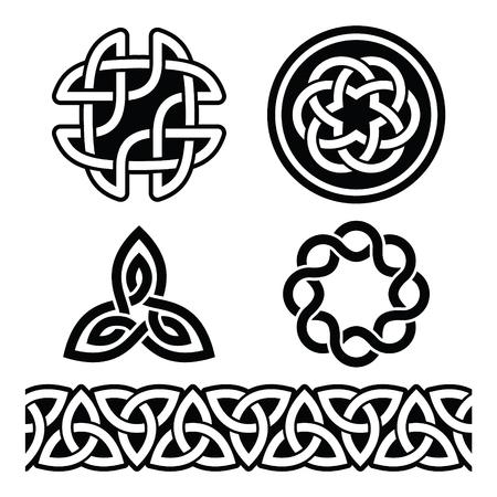 celtic background: Celtic Irish patterns and knots - vector, St Patricks Day