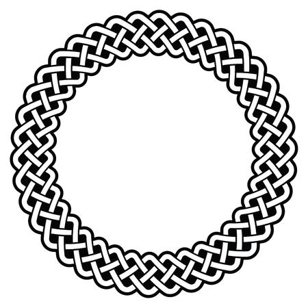 round: Celtic round frame, border pattern Illustration