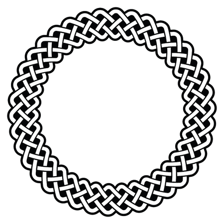 Celtic round frame, border pattern Vectores