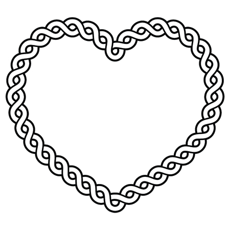 Celtic pattern heart shape - love concept for St Patricks Day, Valentines