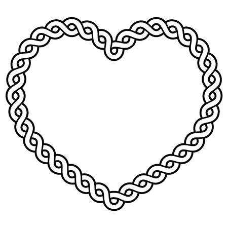 Celtic pattern heart shape - love concept for St Patricks Day, Valentines