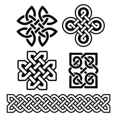 braids: Celtic Irish patterns and braids - vector