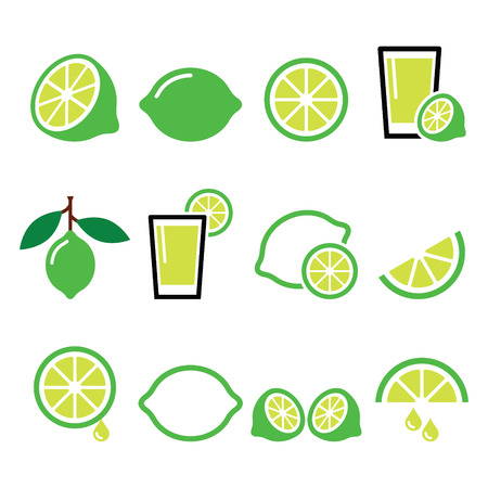 zest: lime - food icons set