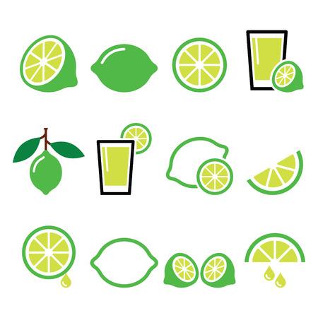 Zestaw ikon żywności - lime