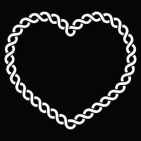 braids: Irish, Scottish Celtic cross on white vector sign
