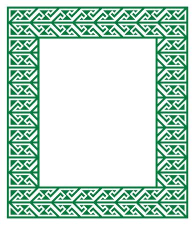 17 of march: Celtic Key Pattern - green frame, border