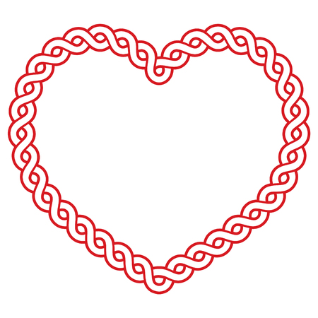 birthday religious: Celtic pattern red heart shape - love concept for St Patricks Day, Valentines