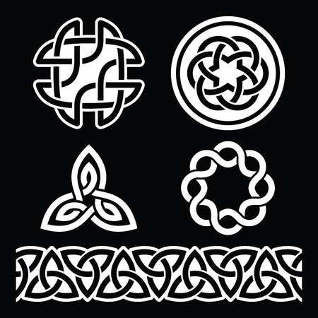 gaelic: Celtic Irish patterns and knots, St Patricks Day