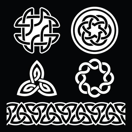 Modelli celtica irlandese e nodi, giorno di San Patrizio Archivio Fotografico - 52208953