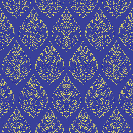 thai pattern: Seamless Thai pattern, repetitive background from Thailand
