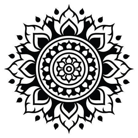 ease: Thai art pattern, traditional design form Thailand - Lai Thai
