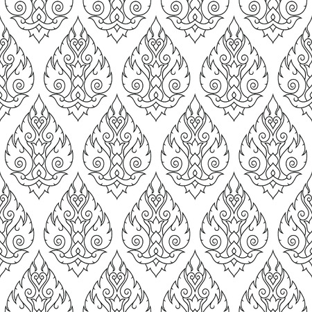 stoke: Seamless Thai pattern, repetitive background from Thailand