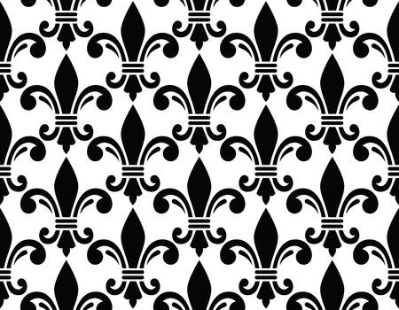 lis: French style seamless pattern - Fleur de lis symbol