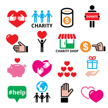 human hand: Charity, helping other people icons