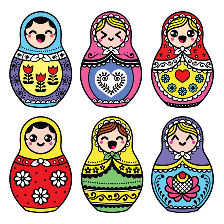 kawaii: Kawaii cute Russian nesting doll - Matryoshka