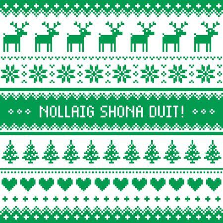 Irisch frohe weihnachten