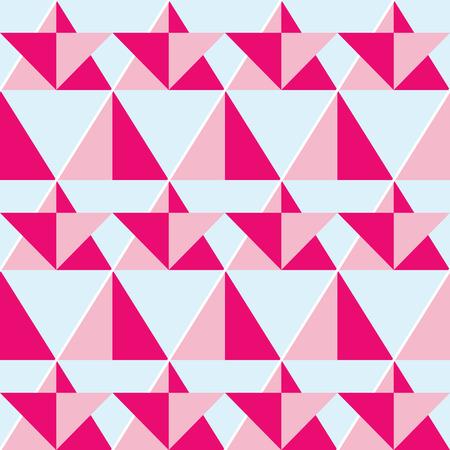 swatch: Geometric pink seamless pattern - flat design style
