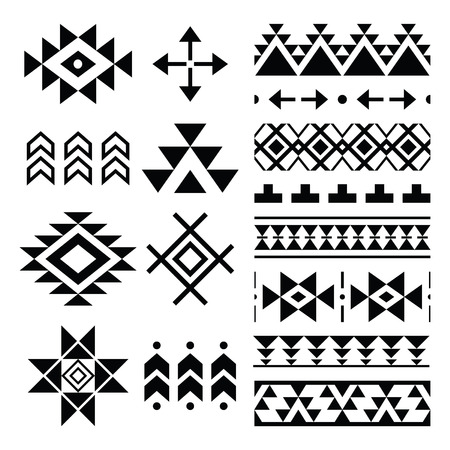 Navajo print, Aztec pattern, Tribal design elements