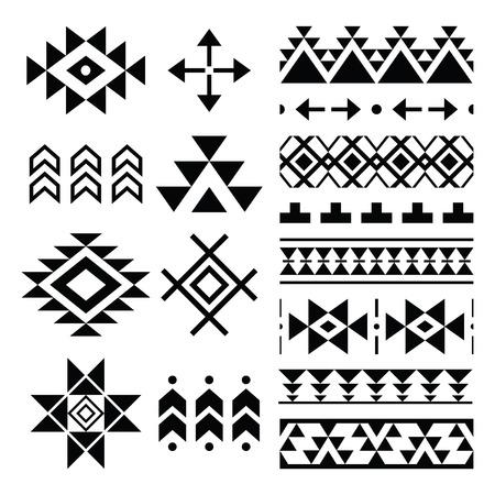 Navajo print, Aztec pattern, Tribal design elements