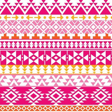 navajo: Seamless Navajo print, Aztec pattern, Tribal design Illustration