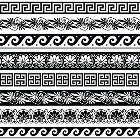 Starożytny grecki wzór - bez szwu zestaw antyków z Grecji