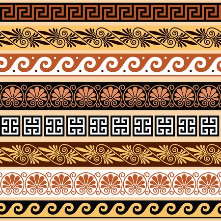 Antico modello greco - insieme senza soluzione di continuità di confini d'epoca provenienti dalla Grecia Archivio Fotografico - 68545939