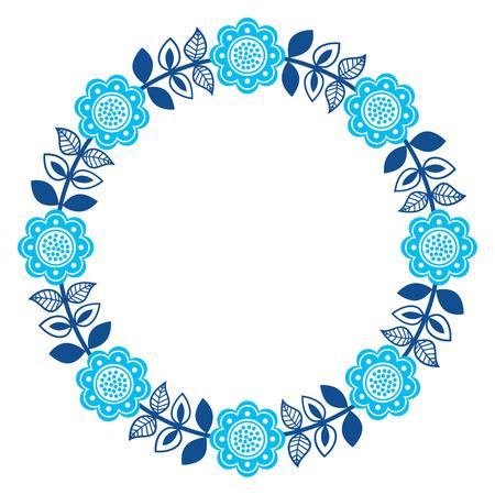 folk art pattern - Scandinavian, Nordic style