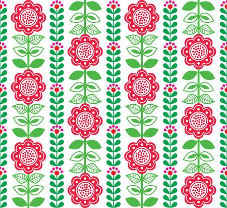 scandinavian: seamless folk art pattern - Scandinavian, Nordic style