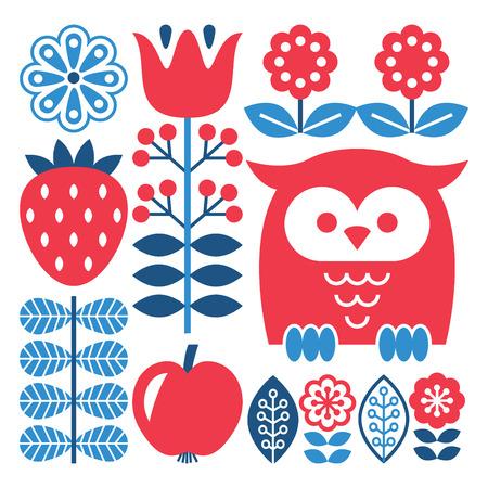 민속 예술의 패턴 - 스칸디나비아, 북유럽 스타일