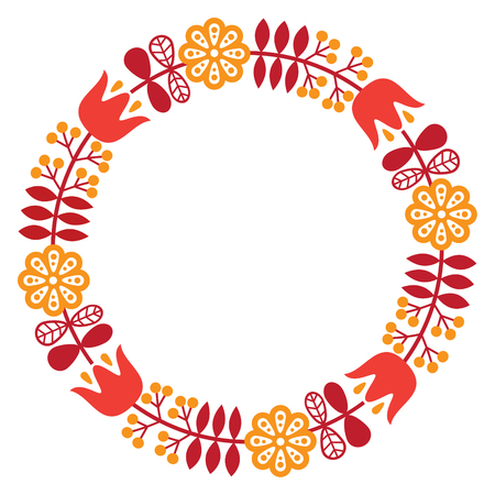 traditional pattern: folk art pattern - Nordic, Scandinavian style
