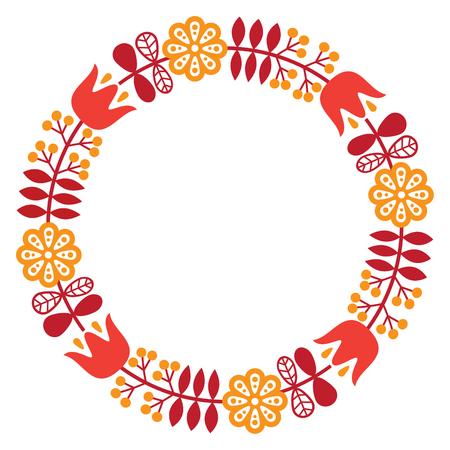 folk art pattern - Nordic, Scandinavian style