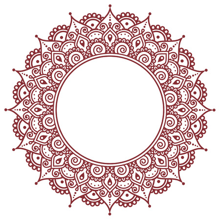 Mehndi, henna indio patrón de tatuaje o de fondo Ilustración de vector