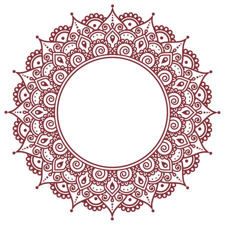 Mehndi, Indian Henna tattoo pattern or background Illustration