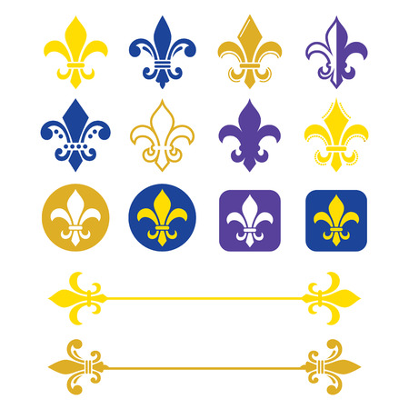 French symbol gold and navy blue design, Scouting organizations, French heralry